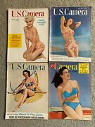 Vintage 1940's - 1950's U.s. Camera Magazines And Others Pin-up / Cheesecake