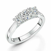 Christmas Gift 0.94 Ct Real Diamond Engagement Ring Solid 950 Platinum Size 7 8