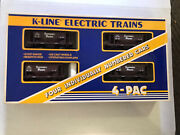 K-line K-6713a Southern Pacific Ore Cars, 4 Pac, Individually Numbered  Ex Cond