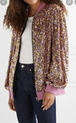 Sequinned Tulle Bomber Jacket In Baby Pink -with Tags- Rrp8700 Aud
