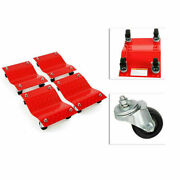 Set Of 4 12x16 Tire Wheel Dolly Vehicle Car Repair Moving W/ Stand 6000 Lbs