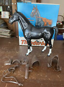 Vintage 60's Marx Johnny West Thunderbolt Horse W/ Original Box And Accessories