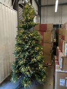 Openbox Balsam Hill Silverado Slim 8and039 Tree With Candlelight Led Lights Christmas