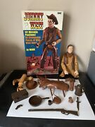 Vintage Marx Johnny West Doll, Box And Accessories Johnny West Almost Complete