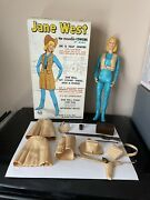 Vintage Marx Jane West Doll, Box And Accessories 1968 Johnny West Almost Complete