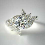 Beautiful 0.91 Ct Real Diamond Engagement Ring Solid 14k White Gold Size 6 7 8 5