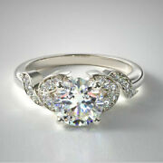 Best Christmas Gift 0.65 Ct Real Diamond Engagement Ring 950 Platinum Size 7 8 9