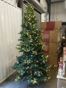 Open Box Balsam Hill Woodland Spruce 7.5and039 Tree With Candlelight Led Lights Xmas