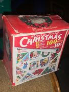Vintage Happee-merree Christmas Seals And Tags 100 Pieces 1946 U.s.a.full Box 50pc