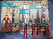 Pioneer Woman Cutting Board, Knives Set, And Sissors Set