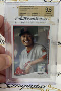 2014 Topps Update Mookie Betts Rc Sp Smiling In Dugout Variation Us26b Bgs 9.5