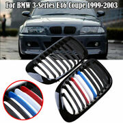 For Bmw E46 M3 325ci 3series 2dr 1999-06 Front Kidney Grille Hood Bumper Grills
