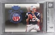 2010 Panini Plates And Patches Jerseys Prime Nfl Shield 58 Tom Brady 1 Of 1 Bgs 9