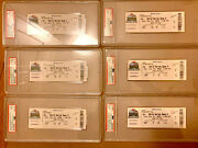 All 6 2020 World Series Tickets - Games 1-6 - Psa Graded - Dodgers