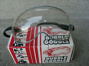 Vintage Nos Paulson Motorcycle Etc. Bubble Goggles Clear In Box New Nice
