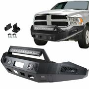 New Complete Steel Front Bumper Assembly For Dodge Ram 1500 2013-2018