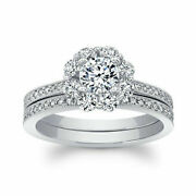 14k White Gold Christmas Ring 1.16 Ct Round Cut Real Diamond Size 6 7 8 9