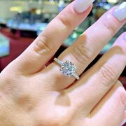 1.70 Ct Natural Diamond Engagement Ring Solid 18k Gold Ring Size 5 6 7 For Sale