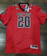 120 Adidas Nc State Wolfpack Premier Strategy Football Jersey Size M Ft1563