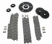 1994 1995 Polaris 300 4x4 Non O Ring Chains And Complete Sprocket Set 13/40 88l