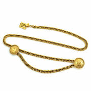 31 Rue Cambon Coin Plate Chain Belt Gold Vintage 90131673