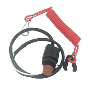 Outboard Boat Engine Emergency Kill Stop Switch With Safety