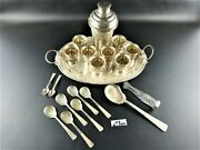Cocktail Set 20 Pieces Silver -.900 - Vietnam - First Half Of The 20th Century