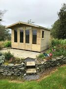 Garden Shed Summer House Tanalised Ultimate Heavy Duty 10x8 22mm Tandg. 3x2