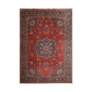 9and0395and039and039 X 13and039 Hand Knotted 100 Wool Tabrizz Traditional Oriental Area Rug Coral