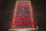 5and03910and039and039 X 12and0392and039and039 Antique Runner Hand Knotted Wool Kazak Oriental Area Rug Navy