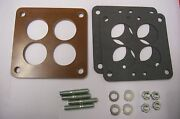 Fits Small Wcfb Carter Phenolic Carb Insulator Spacer Holley Teapot Riser Kit