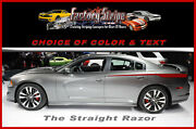 Dodge Charger 2011- 2014 Straight Razor Rear Quarter Spears Automotive Decal