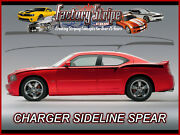 Fits Dodge Charger Sideline Spears Decals Stripe Kit 2006-2010