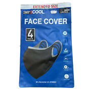Cool Adult Unisex Face Cover Mask 32 Degrees Extended Size Stretch 4 Pack