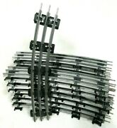 Lot 16 Pieces Of O54 Curve Tubular Track By Lionel Model Railway Train Parts