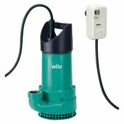 Dirty Water Submersible Pump Wilo-emu-ks 8 It With Float Switch