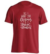 All I Want For Christmas Pigs In Blankets T-shirt Food Funny Menu Sausages 6524