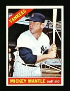 1966 Topps 50 Mickey Mantle Excellent To Mint Plus Centered Perfect Printing Hq