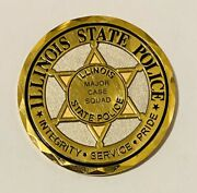 Sought After-unique-illinois State Police -police Challenge Coin