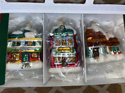 Department 56 A Christmas Carol Ornaments Set Of 3 Glass Houses