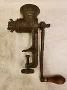 Antique 19th Century L.f. And C. Food Chopper With Reversible Blade