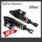 2pcs 12.5 Motorcycle 320mm Rear Air Shock Absorbers Black For Harley Bmw Usa