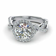 0.96 Ct Natural Diamond Engagement For Ladies Ring 14k Solid White Gold Size 7 8