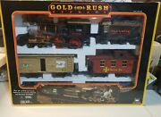 New Bright Gold Rush Express G-scale Train Set W/ Sounds 186 In Box / Complete