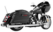 Freedom Performance American Outlaw Dual Exhaust System - Chrome Body With Chrom