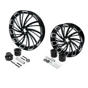 23 Front And 18and039and039 Rear Wheel Rim + Hub Fit For Harley Road King Glide 2008-2021