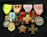 Ww2 Original Set French Military Medals 1939-1945 France Liberation Campaigns