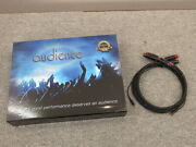 Audience Au24 Sx Phono Low Z Rca-rca Pair 1.0m Tube Cleaner Cord Cable Av Audio