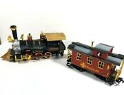 New Bright Engine Gold Rush Express And Santa Fe Caboose 186 Train Replacement