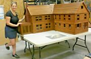 Vintage Northern Pre-civil War Doll House Hand-made To 1/12 Scale 6000 Sq. Ft+